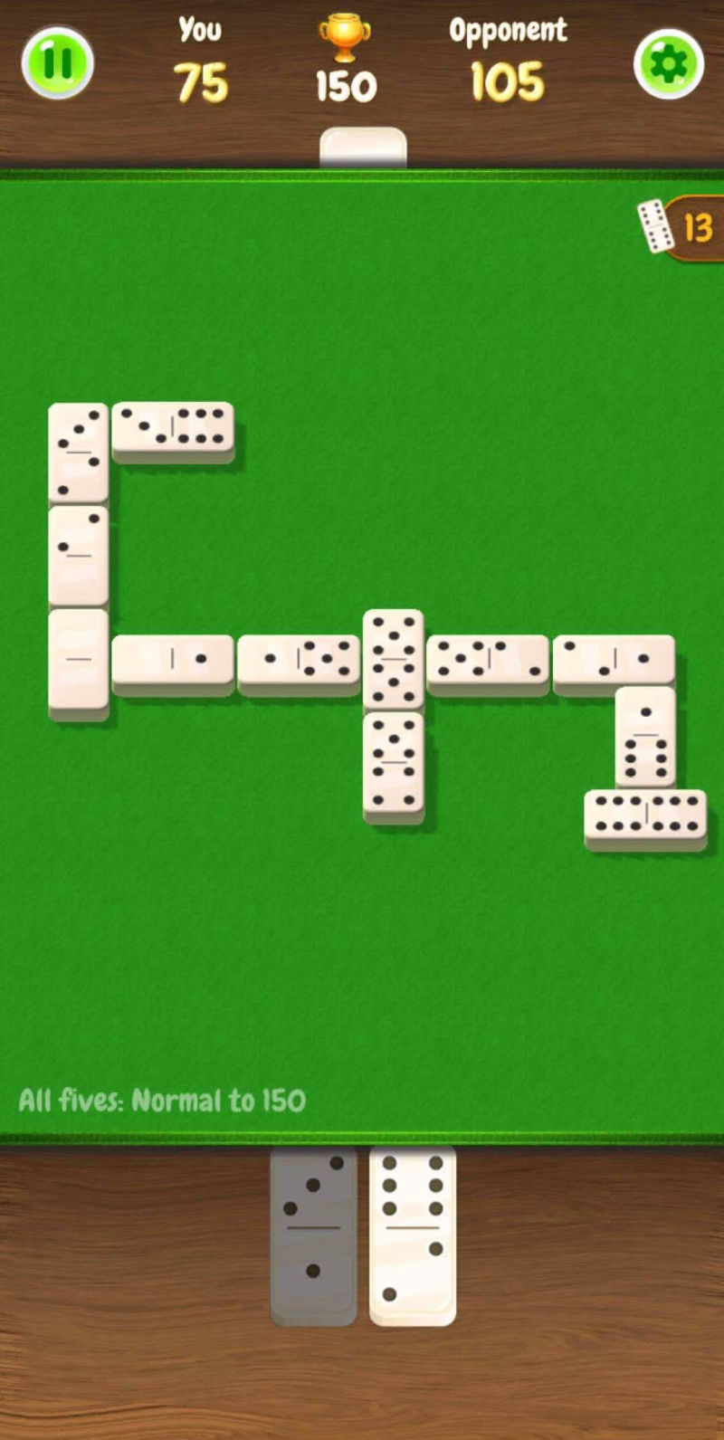 You can play mobile multiplayer Domino games online for free